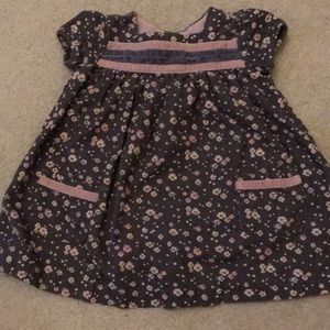 Cute little corduroy dress with pink flowers 🌸